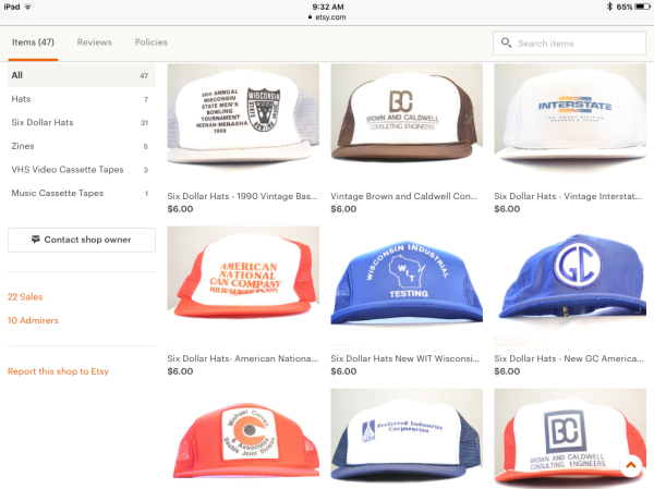 Six Dollar Hats @ Jarpke Etsy